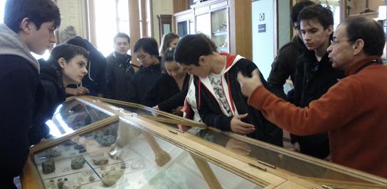 Visite du musée de minéralogie avec des élèves de seconde