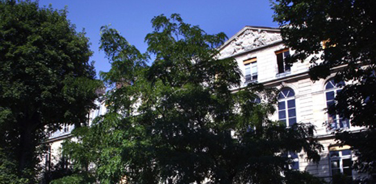 Vue de l'implantation parisienne de MINES ParisTech, cour intérieure