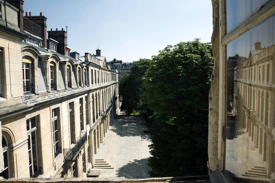 MINES ParisTech, côté jardin.