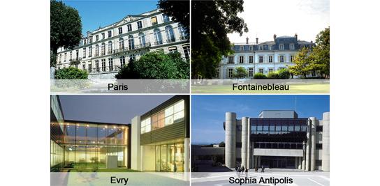 Différentes implantations de MINES ParisTech