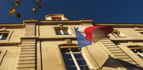 Entrée de l'implantation parisienne de l'école d'ingénieurs MINES ParisTech.
