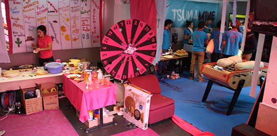 Au foyer des élèves à MINES ParisTech, pendant la campagne BDE.