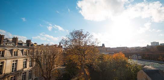 Vue de l'Hôtel de Vendôme depuis le bâtiment Luxembourg Crédit : MINES ParisTech
